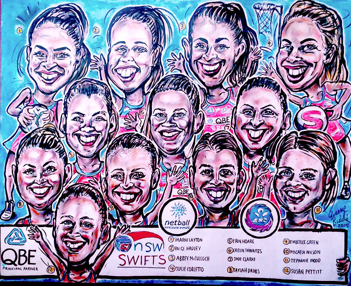NSW Swift Netball Team