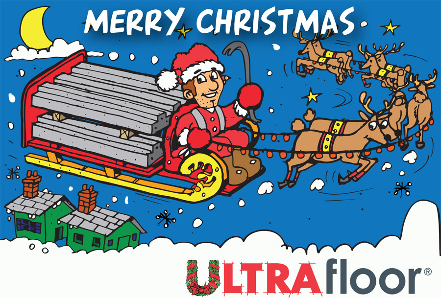 Ultra Floor Xmas Card Outside