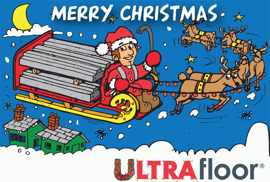 Ultra Floor Xmas Card Outside